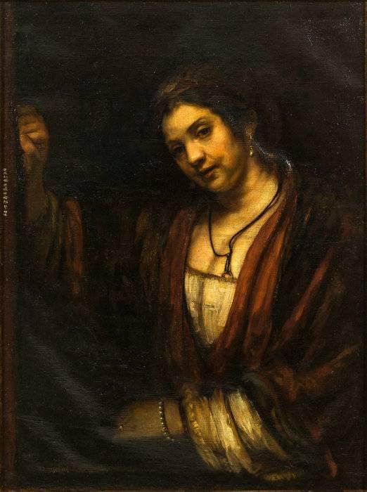 06徐悲鸿1922创作的布面油画《妇人倚窗图》.jpg