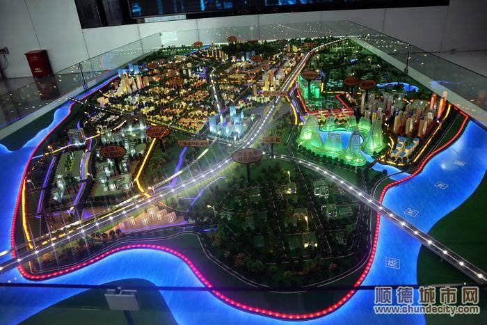 顺德(北滘)机器人小镇产业园建成沙盘模拟图。.jpg